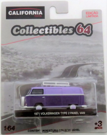 1971 Volkswagen Type 2 Panel Van with Roof Rack - California Collectibles 64 - Serie 5 - 1/64 - Greenlight