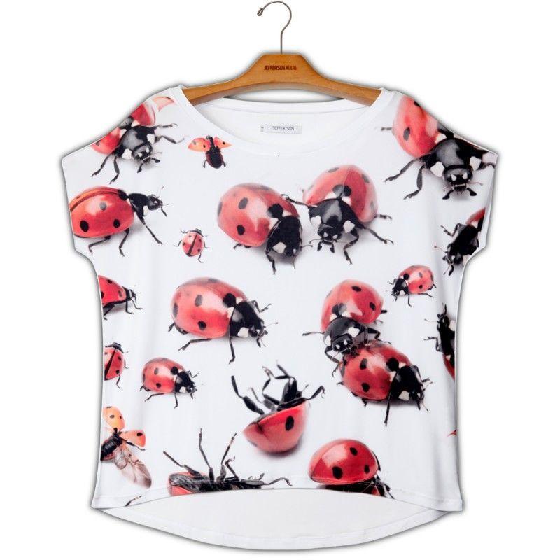 Camiseta Quadradasim Joaninhas - 340705