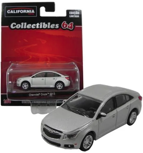 Chevrolet Cruze 2013 Prata Collectibles 64 Greenlight 1/64