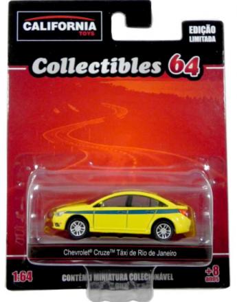 Chevrolet Cruze - Táxi do Rio de Janeiro California Toys Collectibles