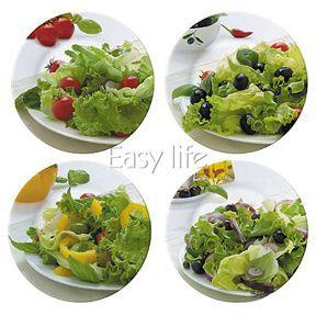 Conjunto com Quatro Pratos para Saladas - C10  150708