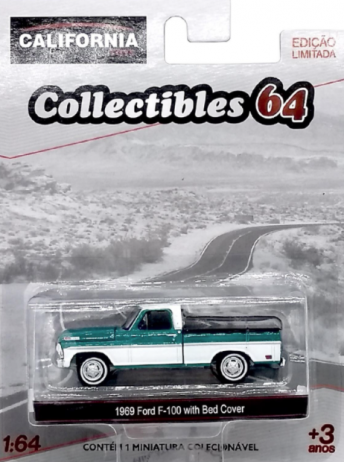 Miniatura - 1:64 - 1969 Ford F - 100 with Bed Cover - Greenlight