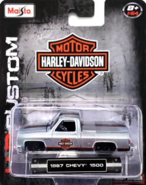 Miniatura - 1:64 - 1987 Chevy 1500 - Harley-Davidson - Maisto