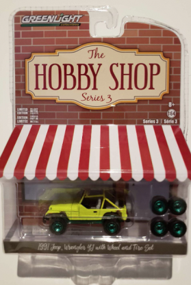 The Hobby Shop Series 3 1991 Jeep Wrangler YJ with wheel& Tire Set