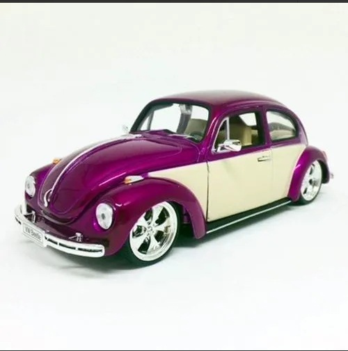 Welly Volkswagen Beetle Hardtop 2 Tone Purple Diecast Car