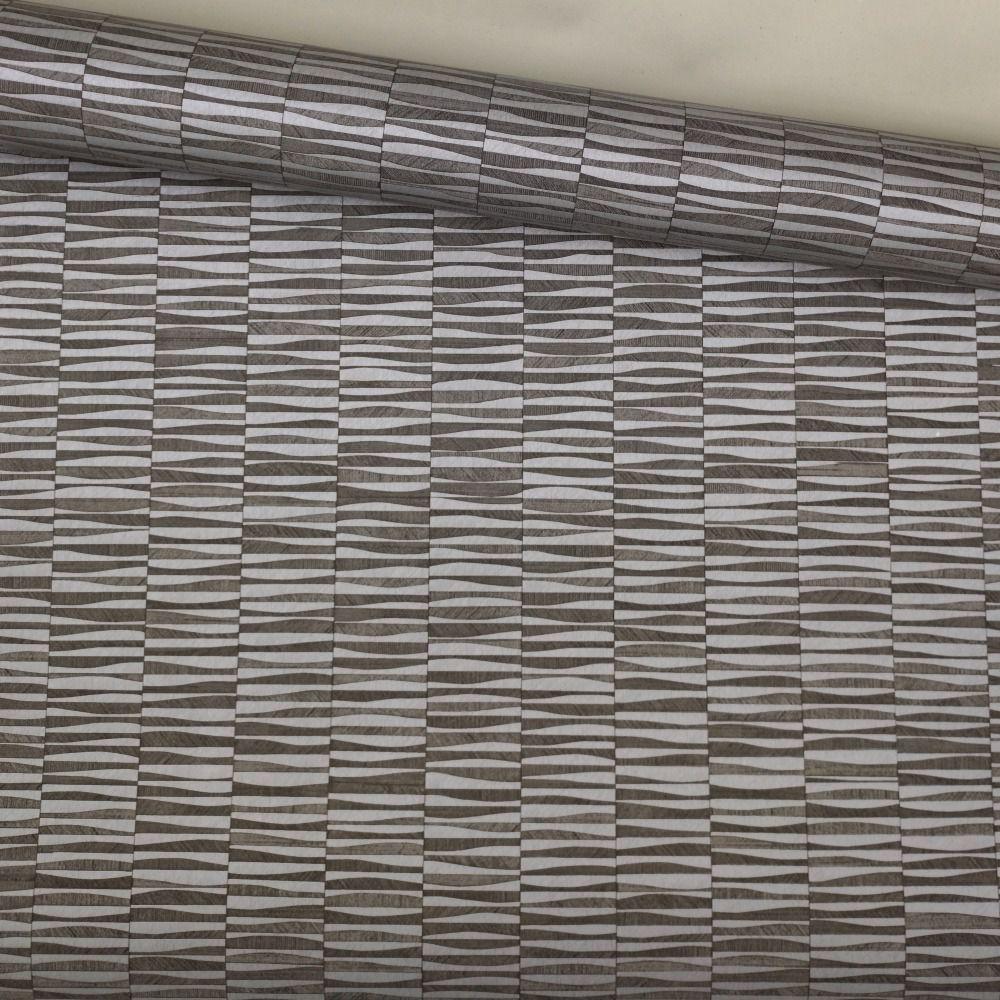 Papel de Parede Vinílico Importado Lavável Geométrico Preto com Prata V0117