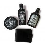 Kit 3 Produtos (Balm Barba + Pomada Cabelo + Shampoo ICE) + Presente