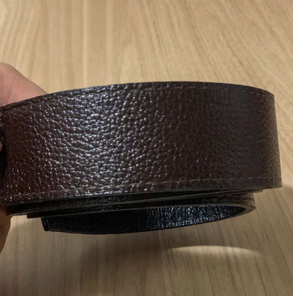 Cinto de Couro Legítimo Executivo - Dupla Face | Preto | Chocolate 1,29m x 3,9cm
