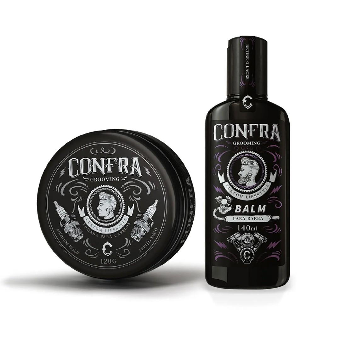 Balm Barba + Pomada Seca Frete Gratis site Confra.store