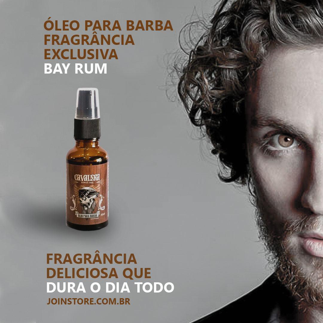 Kit Cavalera Loção Pós Barba BAYRUM - 100ML + Óleo de Barba 30 ml