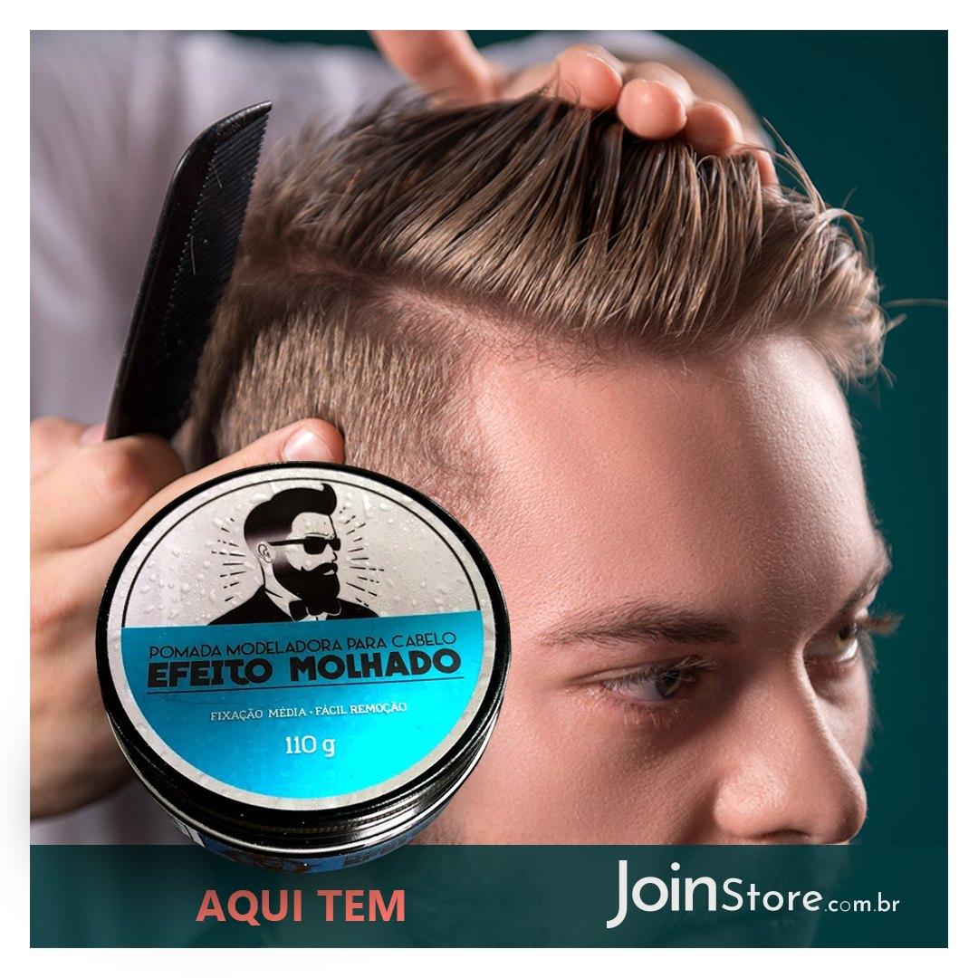 Pomada Para Cabelos Efeito Molhado - Barba De Respeito 110g