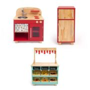 Brinquedoteca - Cozinha + Geladeira + Mercadinho