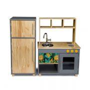 Kit Cozinha Compacta e Geladeira - Nicolas