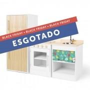Kit Cozinha Pia e Fogão com Geladeira - Alice | Ateliê Materno