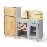 Kit Mini Cozinha e Geladeira - Cinza