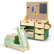 Kit Oficina Compacta Max + Motoneta Verde Suave | Ateliê Materno