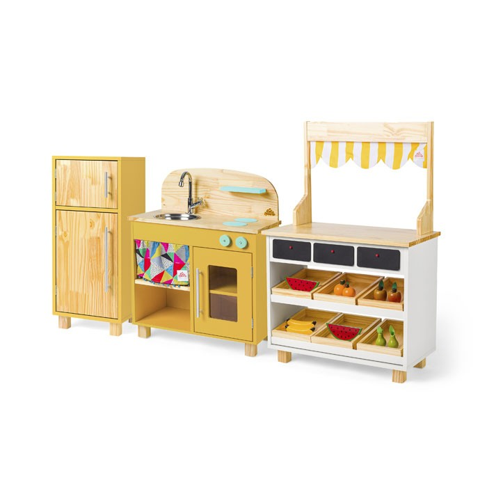 Brinquedoteca Completa: Cozinha + Geladeira + Mercadinho | Ateliê Materno