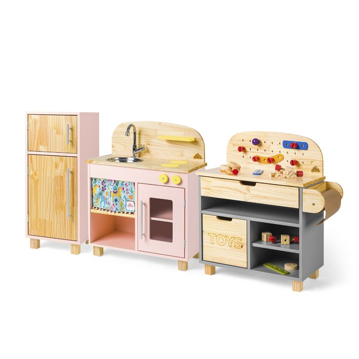 Brinquedoteca Completa: Cozinha + Geladeira + Oficina | Ateliê Materno