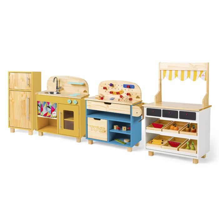Brinquedoteca - Cozinha + Geladeira + Oficina + Mercadinho
