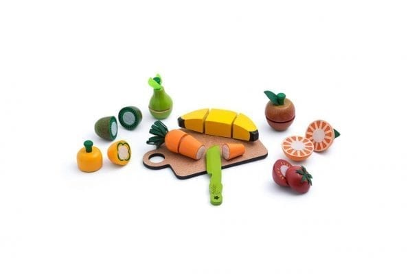 Frutinhas e Legumes de Corte em Madeira