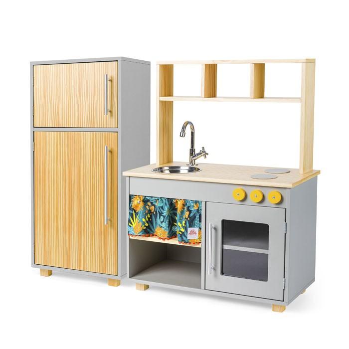 Kit Cozinha Compacta e Geladeira - Nicolas | Ateliê Materno