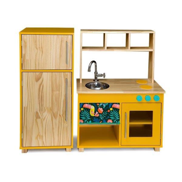 Kit Cozinha Compacta + Geladeira Cora