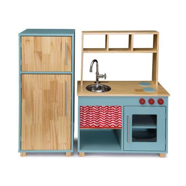 Kit Cozinha Compacta e Geladeira - Lina