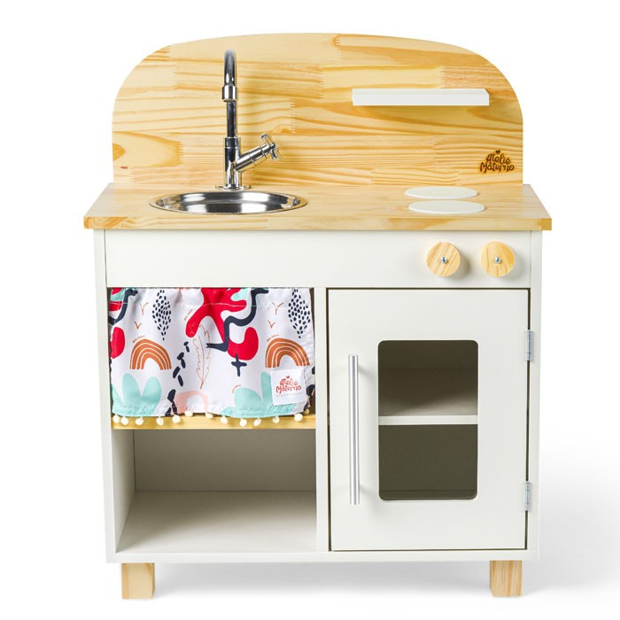 Kit Mini Cozinha e Geladeira - Branca