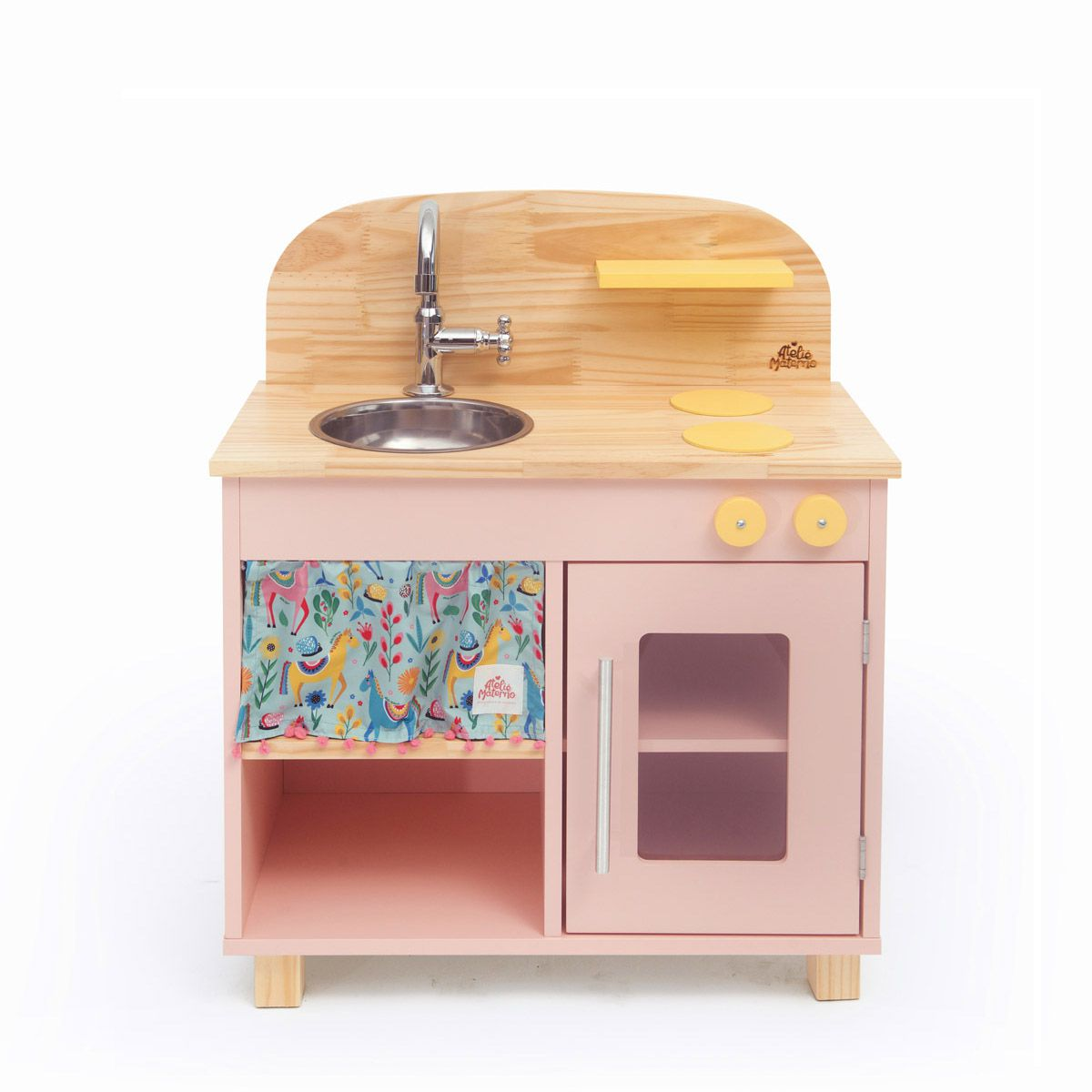 Kit Mini Cozinha Rosa + Oficina Azul