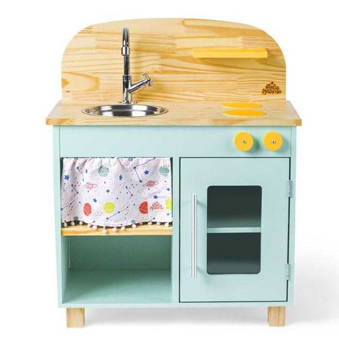 Mini Cozinha - Verde Água | Ateliê Materno