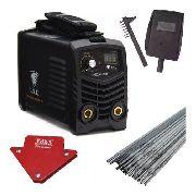 Maquina Solda Mini Inversora Digital MMA 230 220v USK + Esquadro Magnetico