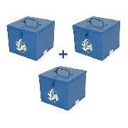 Kit Caixa Bau P/ Serra Marmore Makita Bosch Com 3 Unidades Fercar Metal
