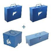 Kit Caixa P/ Furadeira + Caixa P/ Martelete + Caixa P/ Serra Marmore + Caixa P/ Esmerilhadeira de Metal Fercar