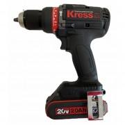 """Furadeira Parafusadeira C/ Impacto 1/2"""" 20V Bateria 4.0Ah Brushless KRESS KU361.1"""