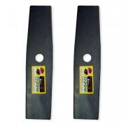 Kit 2 Laminas Faca P/ Roçadeiras a Combustão / Eletricas 350mm x 1,5mm x 1Pol POWERMAX-PM007