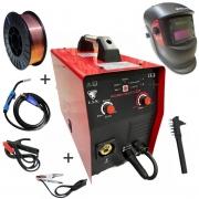 Kit Maquina De Solda Multiprocesso MMA MIG TIG LIFT 255 220v USK + Arame 5Kg 0.8mm + Mascara de Solda Automatica
