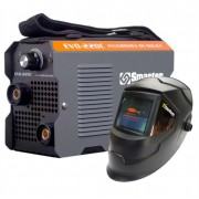Kit Maquina Solda Inversora Mini MMA EVO-220C 220V + Mascara Automatica