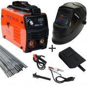 Kit Solda Inversora Digital Mini Mma 226 220v + Mascara Automatica Black