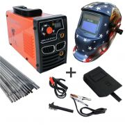Maquina Inversora P/ Solda MMA 244 Bivolt 127/220v Digital Usk + Mascara Automatica Aguia
