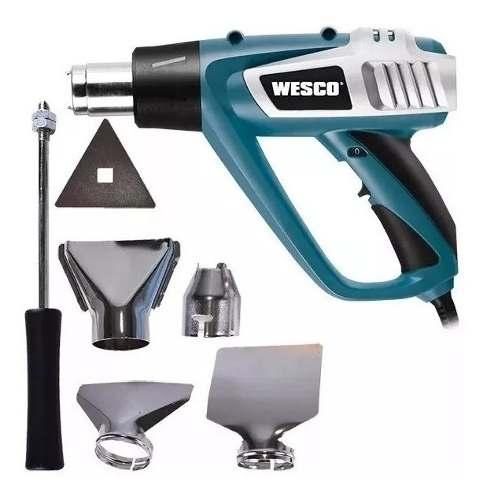 Soprador Termico Profissional Wesco Ws6427 127v Com Bocais Acessorios Completo