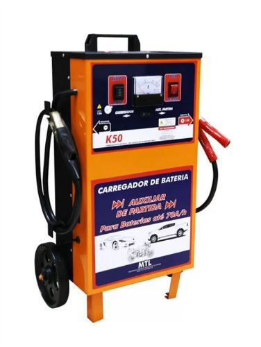Carregador De Bateria C/ Auxiliar De Partida Profissional 50A 12v Kitec