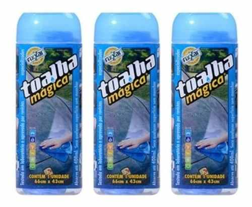 Kit Toalha Magica Fixxar Original C/ 3 Unidades Limpa Seca