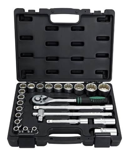 Jogo Kit De Soquete Catraca C/ 24 Peças 1/2 8 A 32mm Profissional Stels