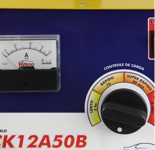 Carregador  de Bateria C/ Auxiliar de Partida Profissional 12V CK12A50B Kitec