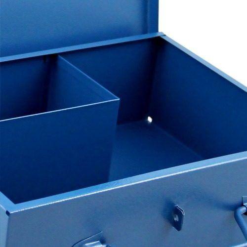 Kit Caixa Metal P/ Furadeira Martelete e Esmerilhadeira 4.1/2 Fercar Makita Dewalt Bosch Wesco Kress