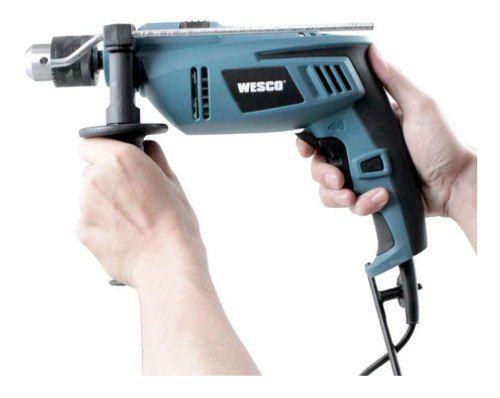 Kit Furadeira C/ Impacto 1/2 13mm C/ 750w 127v Wesco WS3145 + Maleta de Metal P/ Acessorios Fercar