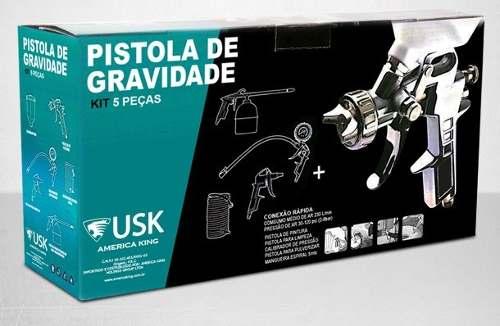 Kit De Pintura E Limpeza 5 Peças Para Compressor Universal