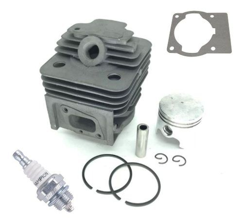Kit Motor Cilindro + Pistão + Aneis + Junta + Vela P/ Roçadeira 43cc Tekna Toyama Vulcan Bandai Importadas