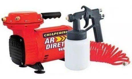 Compressor De Ar Direto Chiaperini Red 2,3 Pcm Bivolt C/ Pistola Pintura E Mangueira Completo