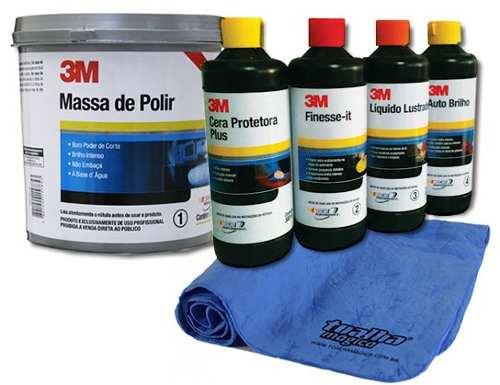 Kit Polimento Profissional 3m Completo + Brinde Toalha Magic